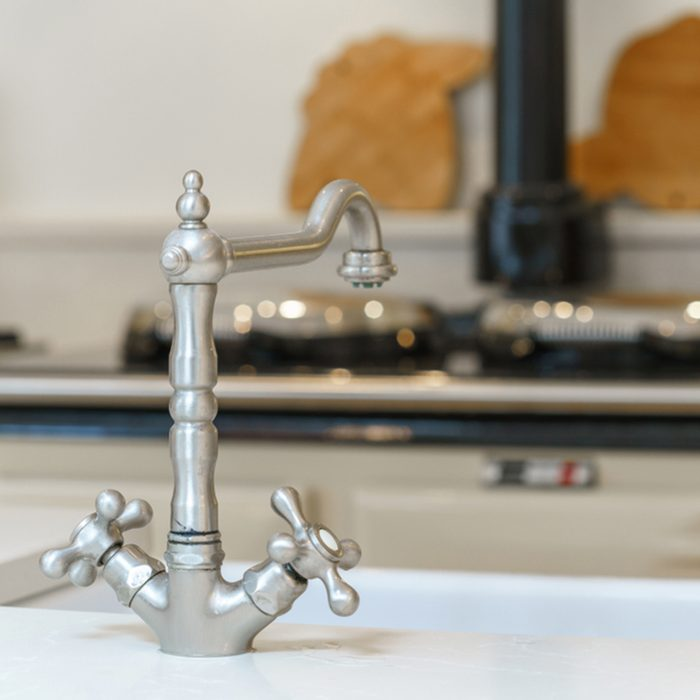 Vintage stylish faucet in the kitchen