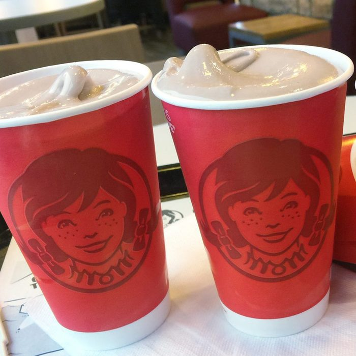 Several Wendy's frosties