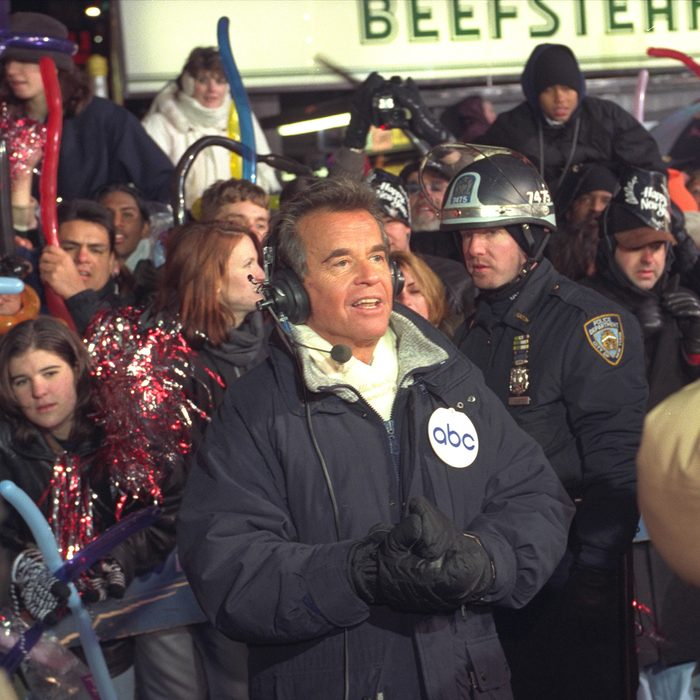 Dick Clark broadcasts New Year's festivities from Times Square in New York for ABC