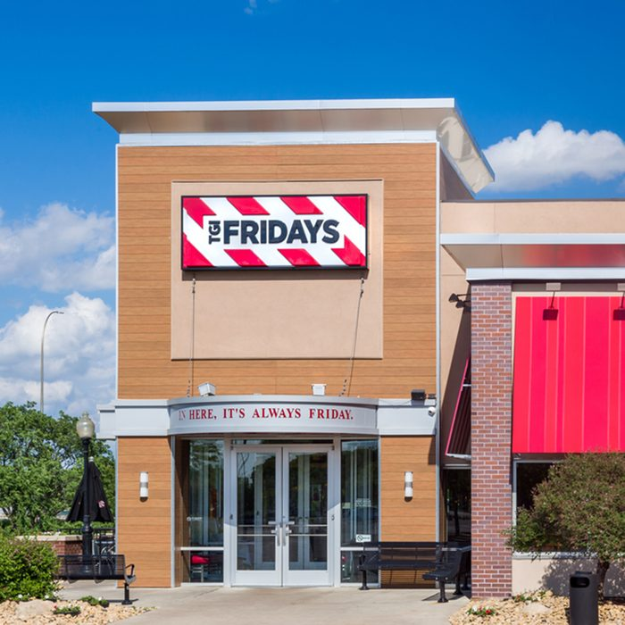 TGI Fridays exterior and logo.