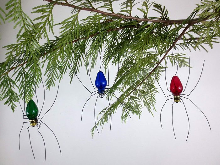 Large Lucky Christmas Spider Christmas Tree Ornaments Set of 3 Made to Order