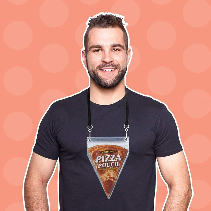 Portable Pizza Pouch - Great Gag Gift, Stocking Stuffer, Or For The Pizza Lover!