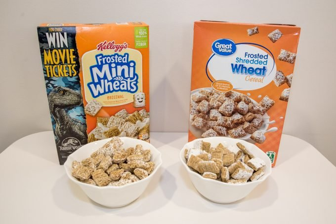 frosted mini wheats vs frosted shredded wheat generic vs name brand cereals