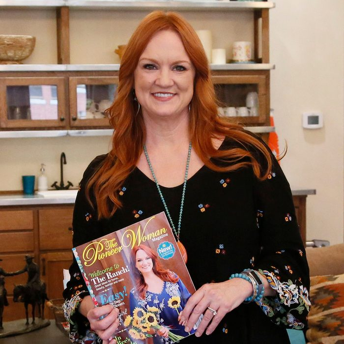 """Mandatory Credit: Photo by Sue Ogrocki/AP/REX/Shutterstock (9704786as) Ree Drummond is pictured during an interview in Pawhuska, Okla, . Growing up in a town she considered """"too small,"""" Drummond sought the bright lights of a city, and wound up in an even smaller town where she has built a virtual media empire on the Plains of northeast Oklahoma Pioneer Woman, Pawhuska, USA - 14 Jun 2017"""
