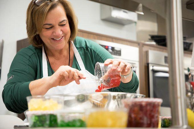 Catherine Ward, Taste of Home Prep Kitchen Manager, works in the Test Kitchen.