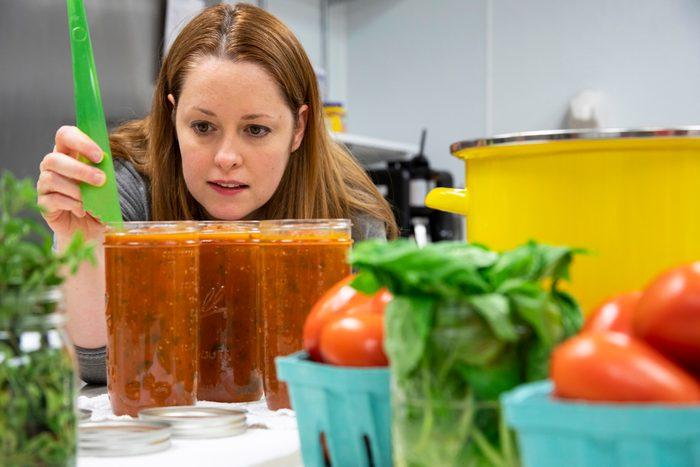 Shannon Norris, Taste of Home senior food stylist, works in the Test Kitchen.