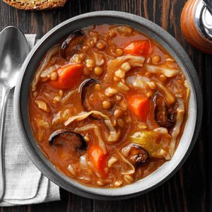 Cabbage Barley Soup