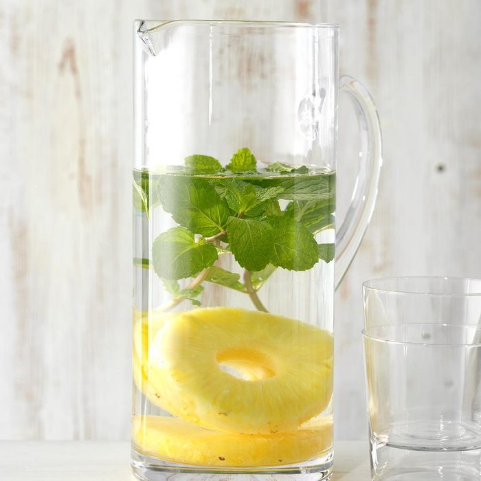 Pineapple and Mint Infused Water