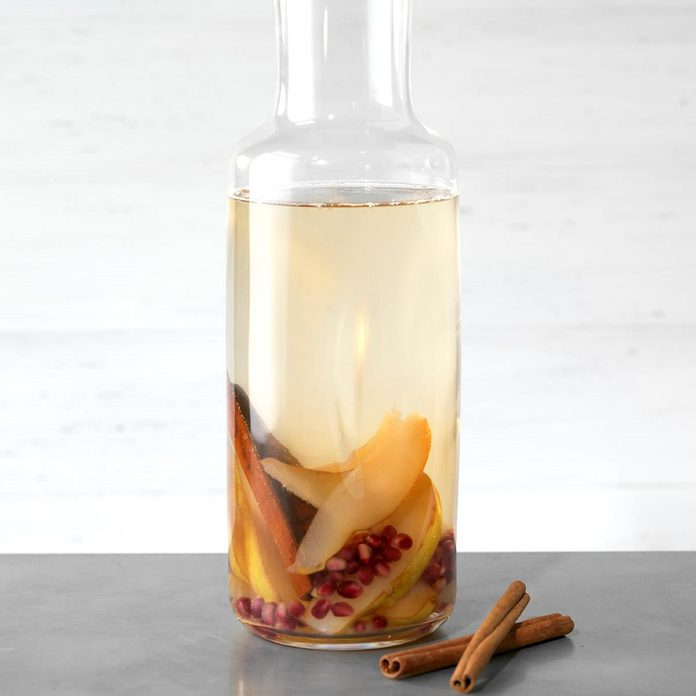 Pomegranate and Pear Infused Water