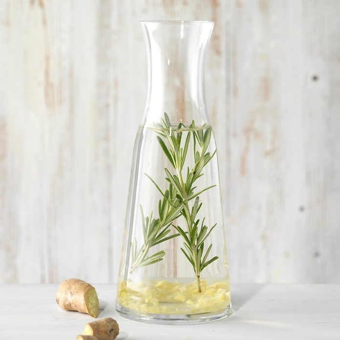 Rosemary and Ginger Infused Water