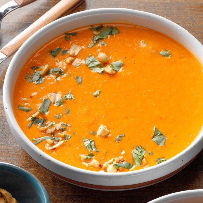 Slow-Cooker Thai Butternut Squash Peanut Soup
