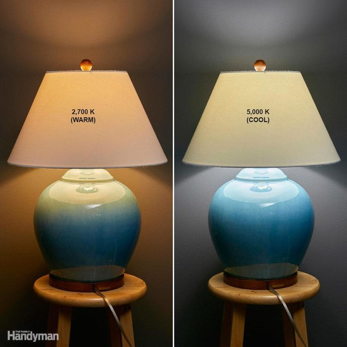 Lamp examples of different bulbs