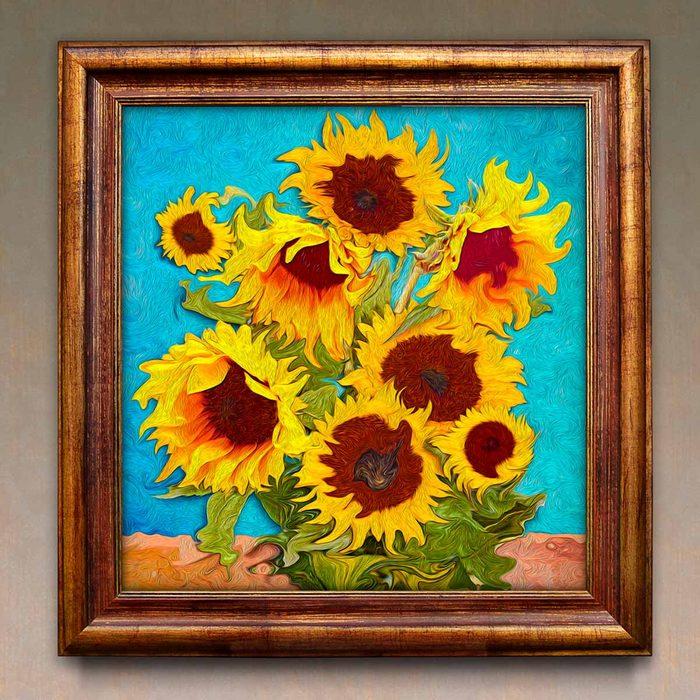 Bold sunflower artwork