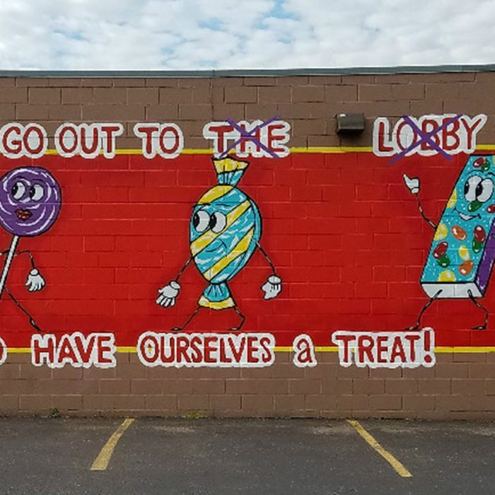 Doc Sweets' Candy Company mural