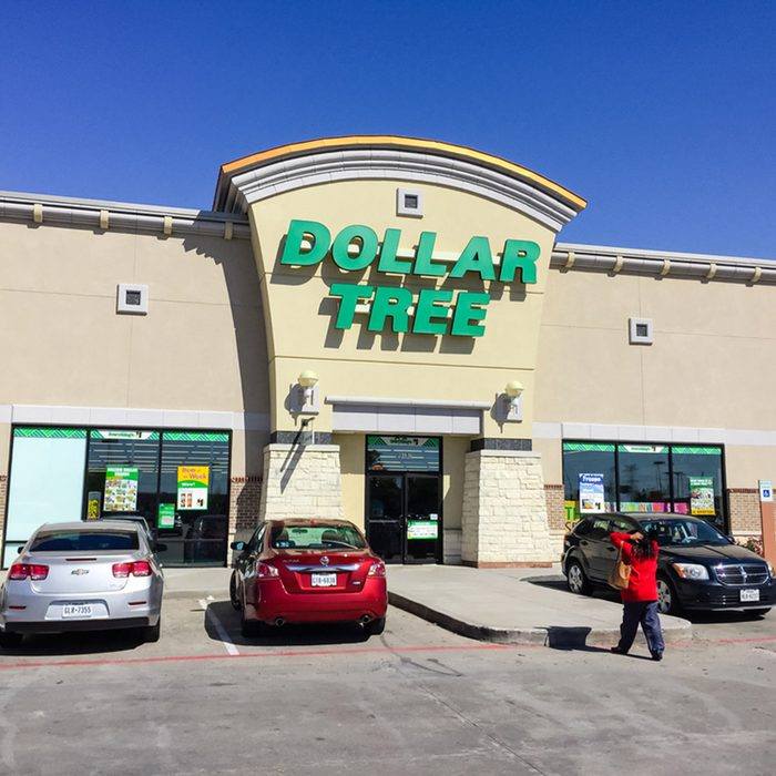 Customers enter Dollar Tree, an American chain of discount variety items for $1 or less.