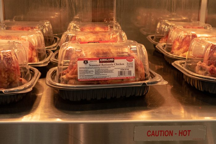 Rotisserie Chicken on Display at Costco