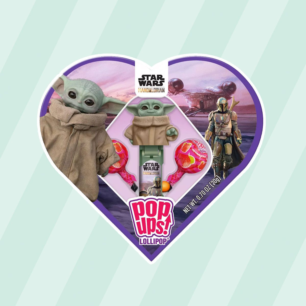 Star Wars Mandalorian Pop Ups Lollipop Heart Box