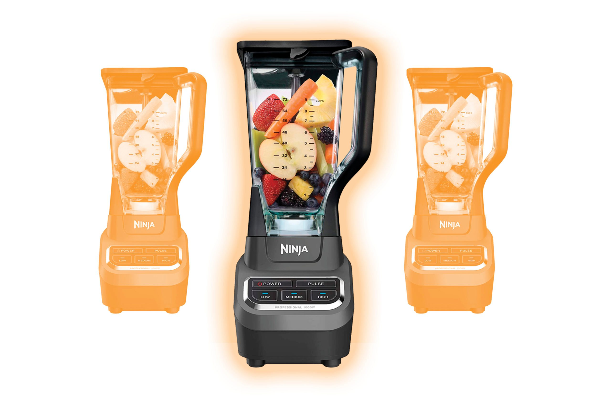 Ninja Professional 72 Oz Countertop Blender with 1000-Watt Base and Total Crushing Technology for Smoothies, Ice and Frozen Fruit (BL610), Black