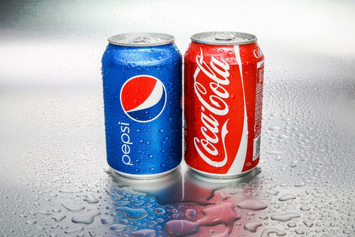 Can of Pepsi and Coke