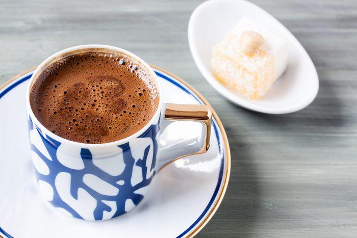 Turkish coffee and Turkish delight; Shutterstock ID 407886841