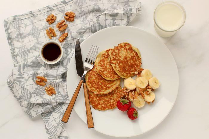 3 Ingredient Pancakes Overhead