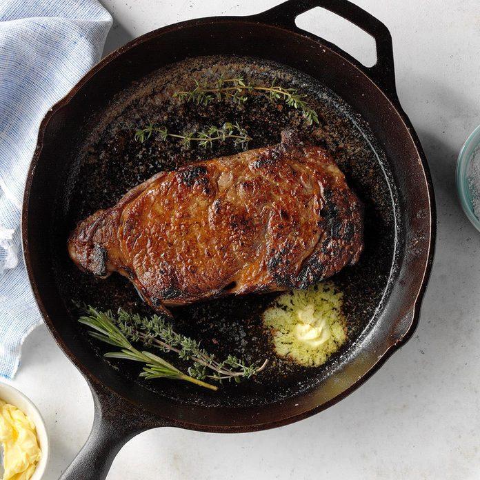 Sunday: Cast-Iron Skillet Steak