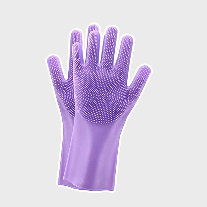 Magic Silicone Scrubbing Gloves 2