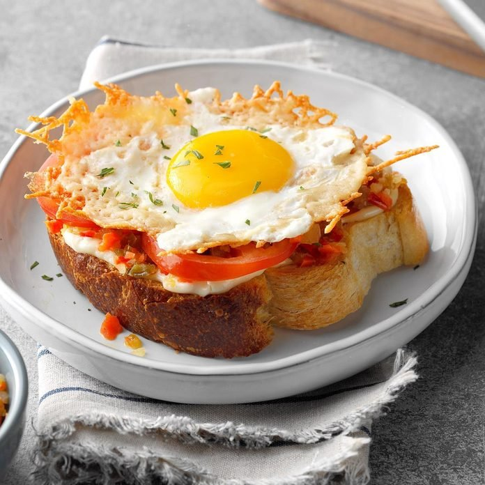 Open-Faced Frico Egg Sandwich