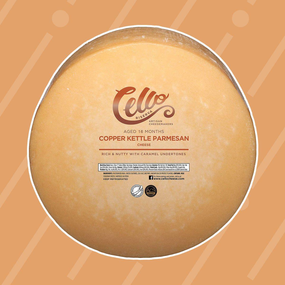 Cello Riserva Copper Kettle Parmesan Cheese Wheel
