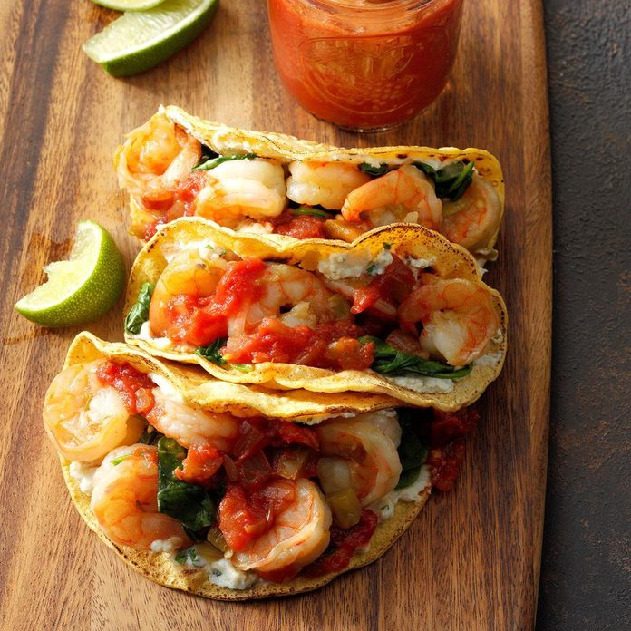 Day 4: Spinach, Shrimp and Ricotta Tacos