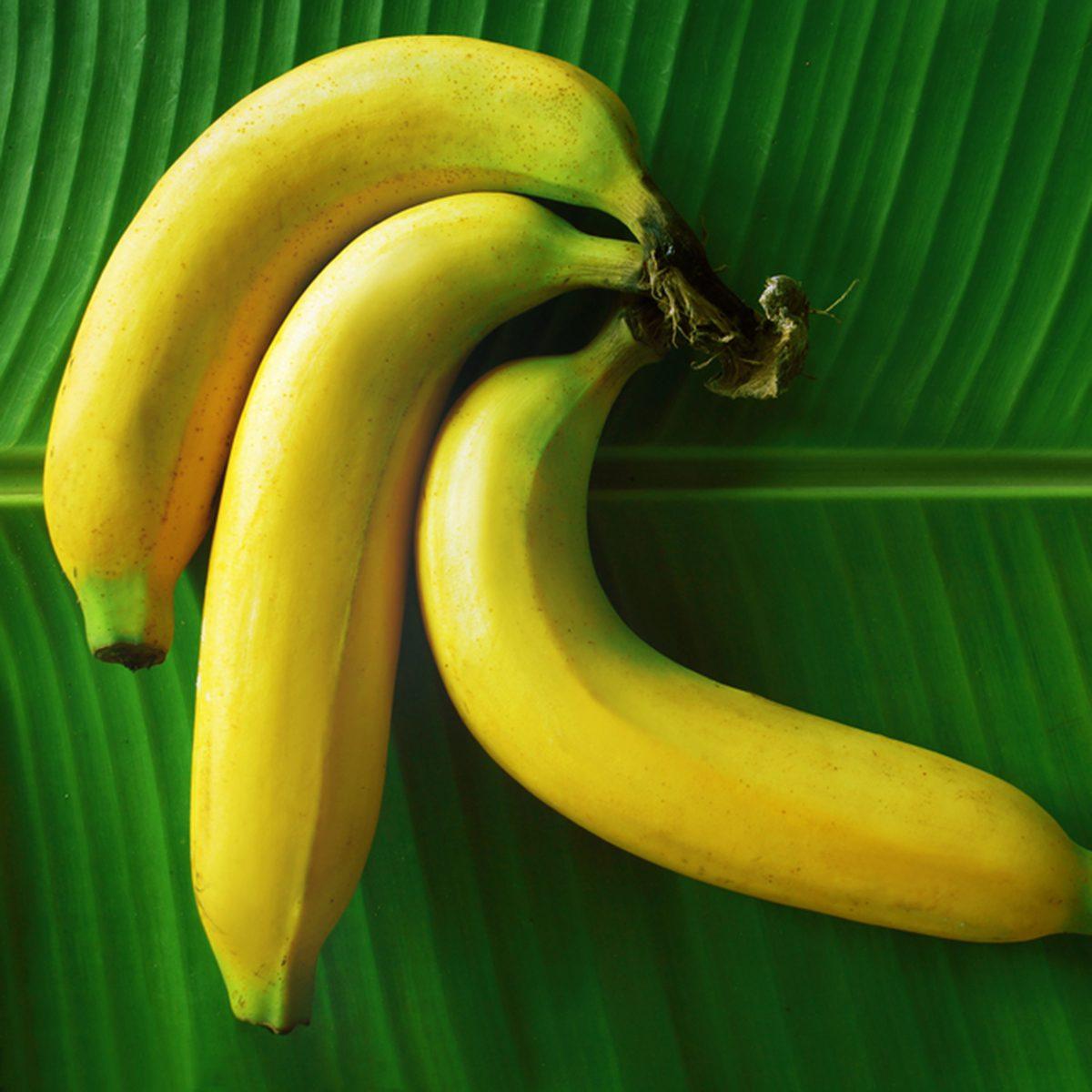 Banana snack on a banana leaf