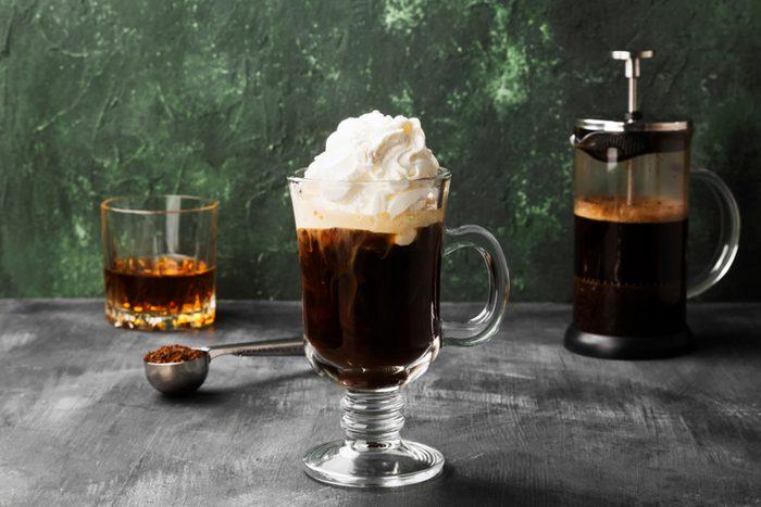 Irish coffee recipe made with Irish whiskey