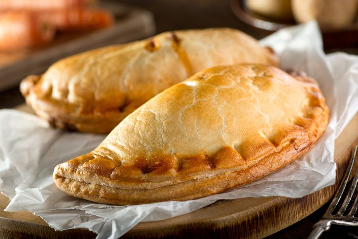 Delicious homemade ham and cheese hot pockets or pasties