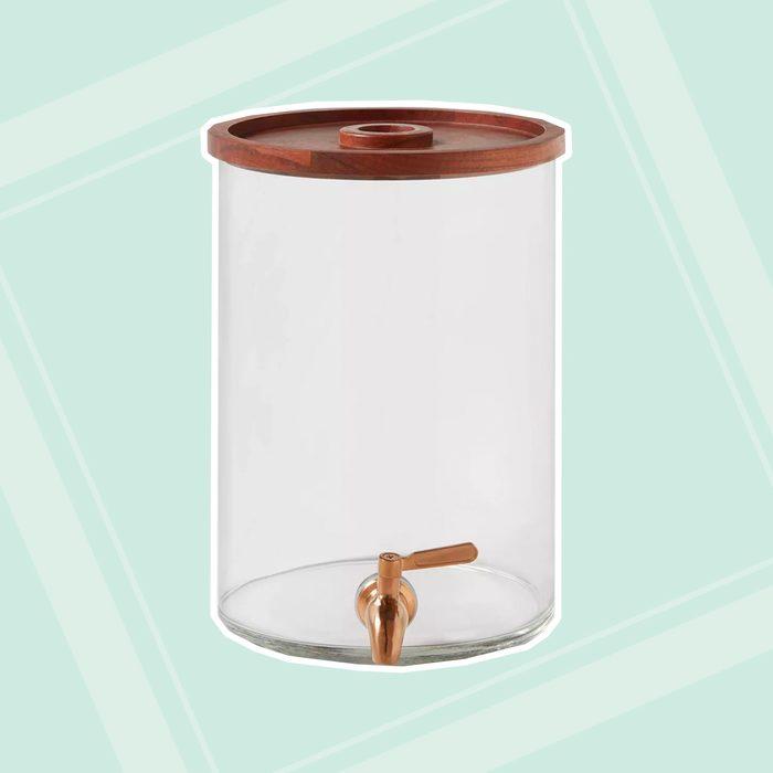 2gal Glass Modern Beverage Dispenser Threshold