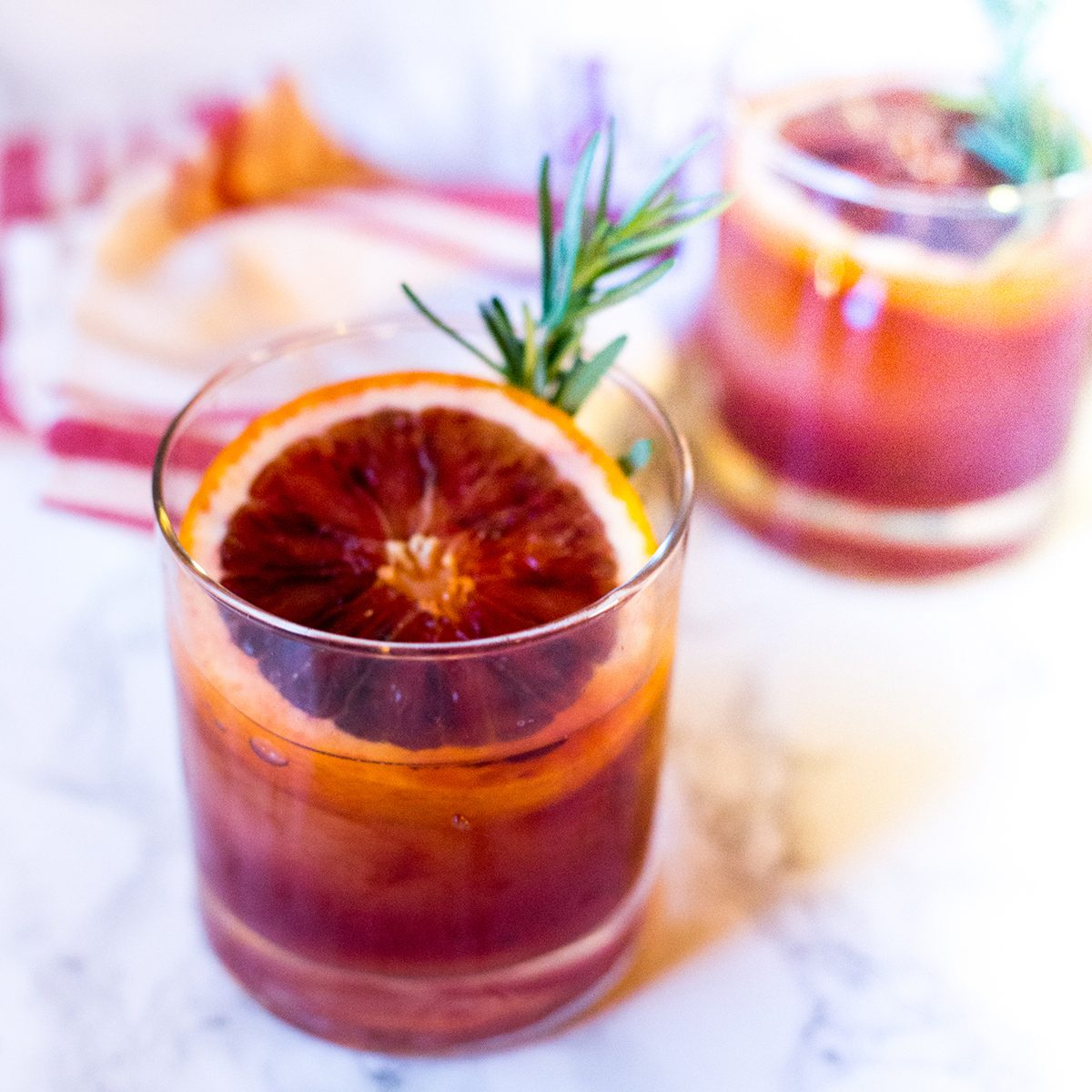 Blood Orange Rosemary Old Fashioned