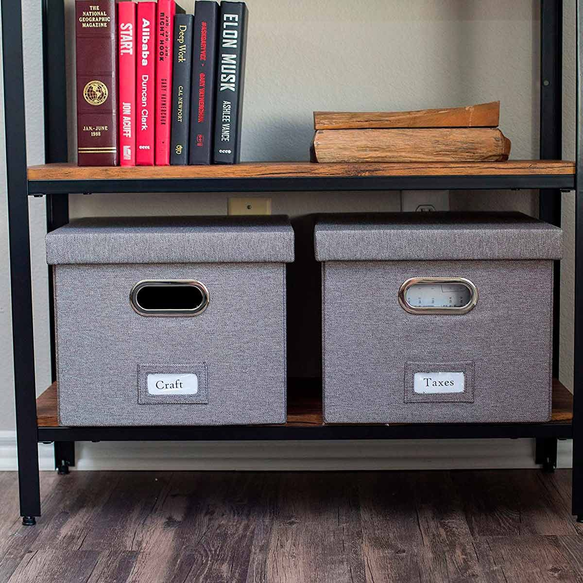 Decorative Linen Filing & Storage Office Box