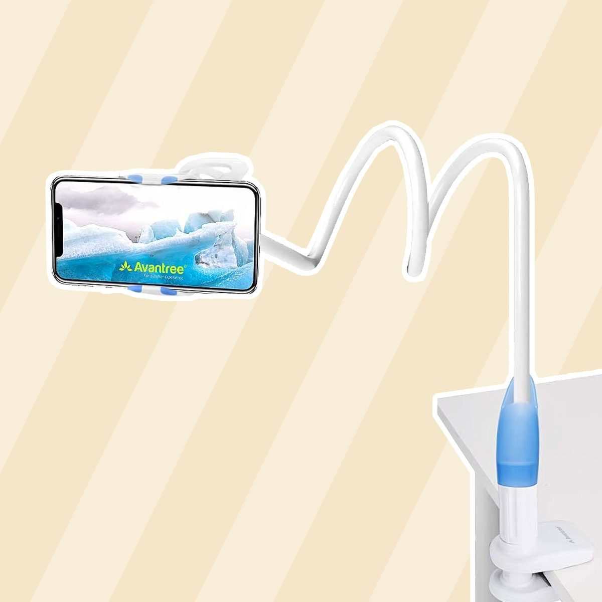Avantree CP901 Gooseneck Phone Holder Clamp for Bed Desk Bedside Table