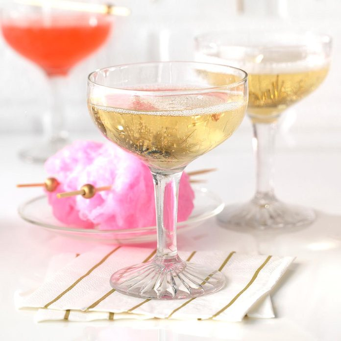 Cotton Candy Champagne Cocktails