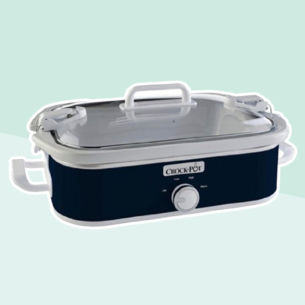 Crock-Pot SCCPCCM350-BL Manual Slow Cooker, Navy Blue