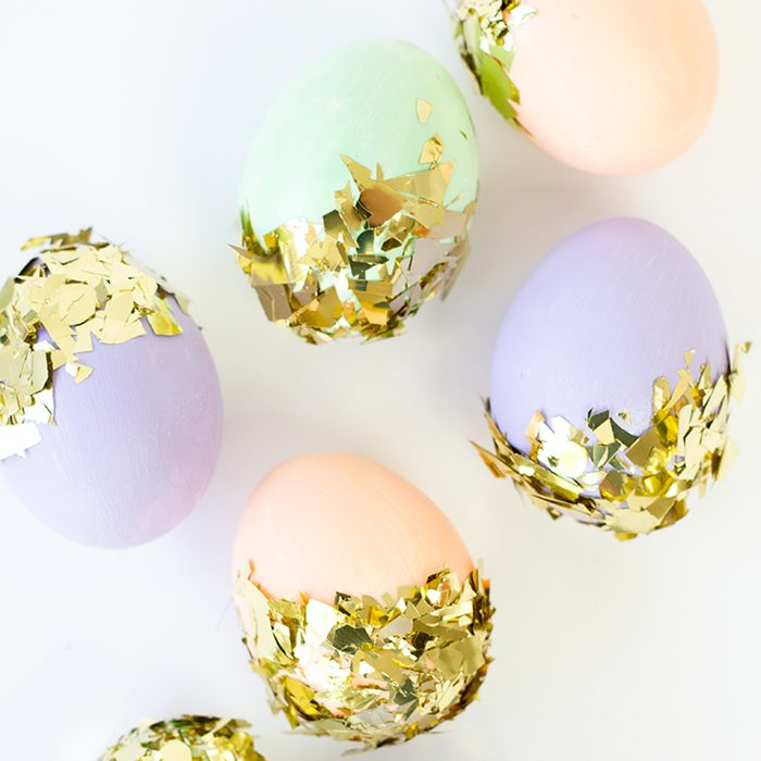 Confetti-dipped Easter eggs