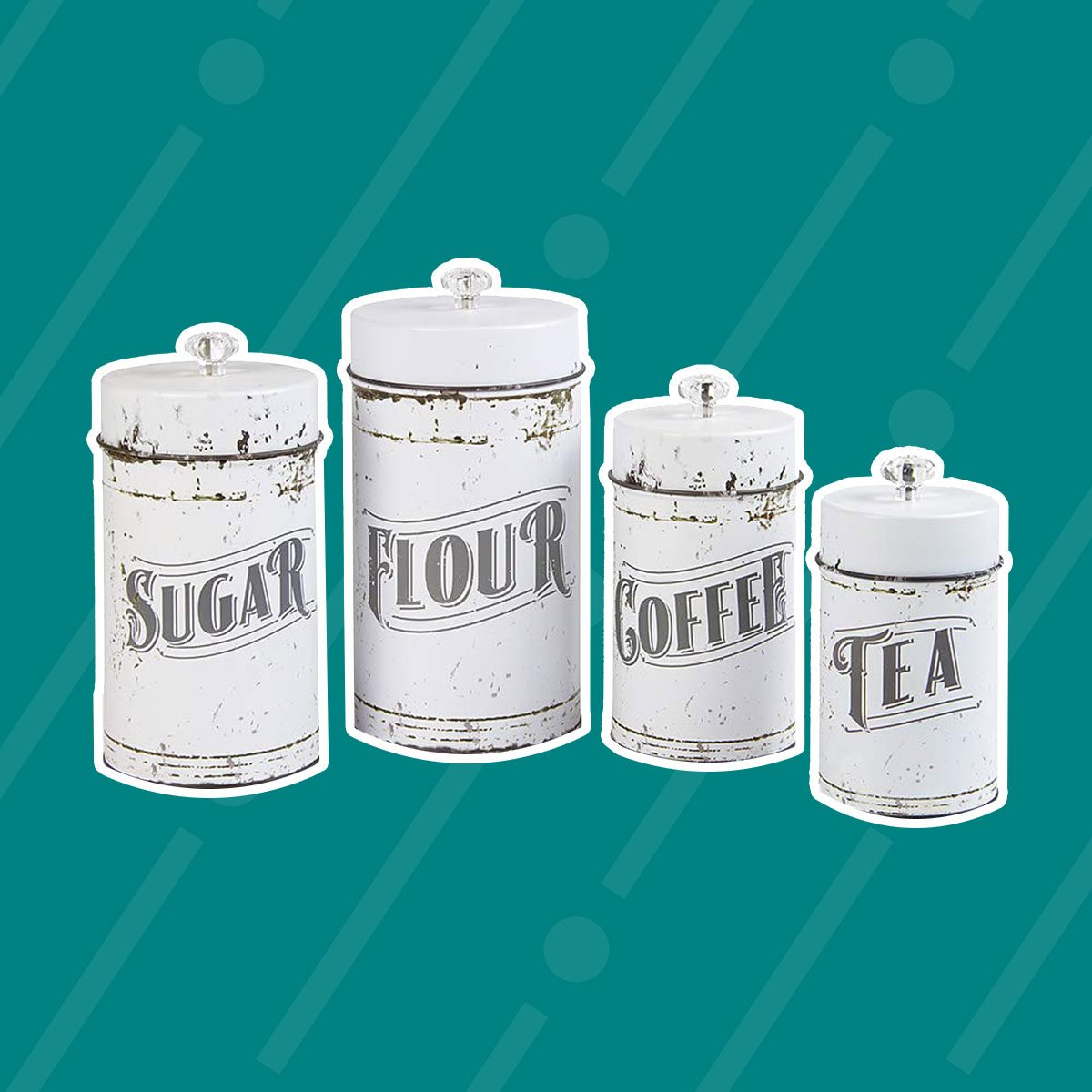 French Country White Canister Set