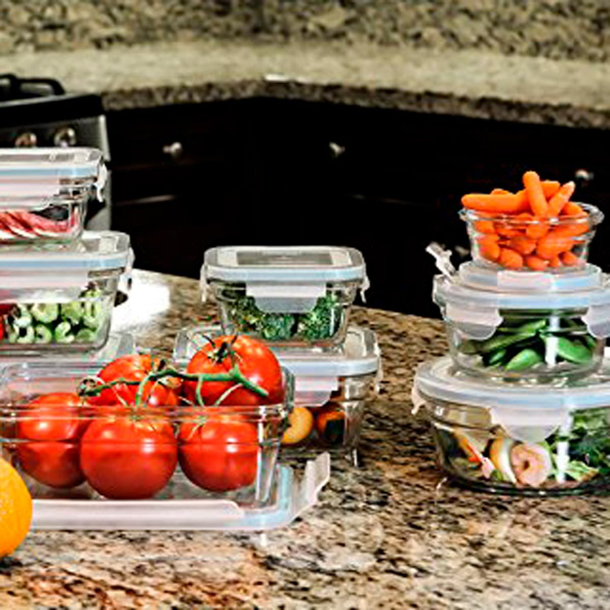 Glasslock 18-Piece Oven-Safe Container Set