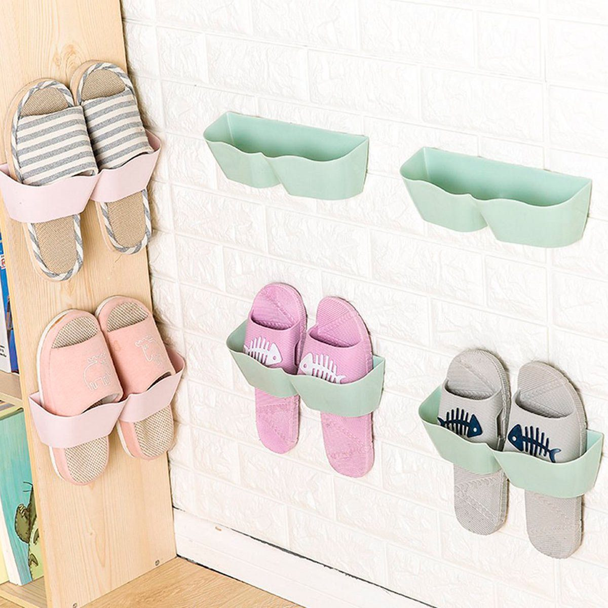Stick-On Shoe Holders