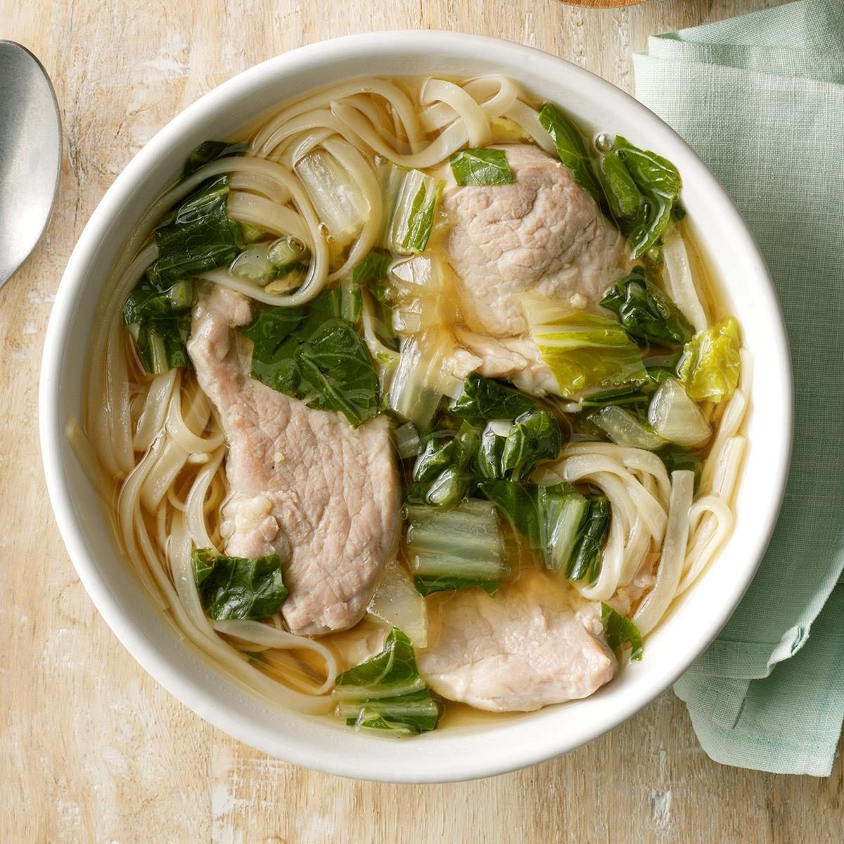 Friday: Pork & Bok Choy Udon Soup