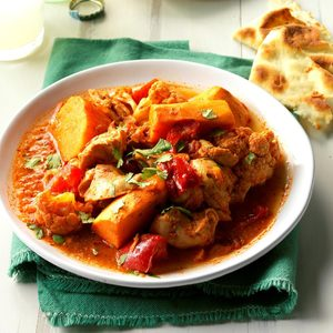 Pressure Cooker Indian-Style Chicken and Vegetables