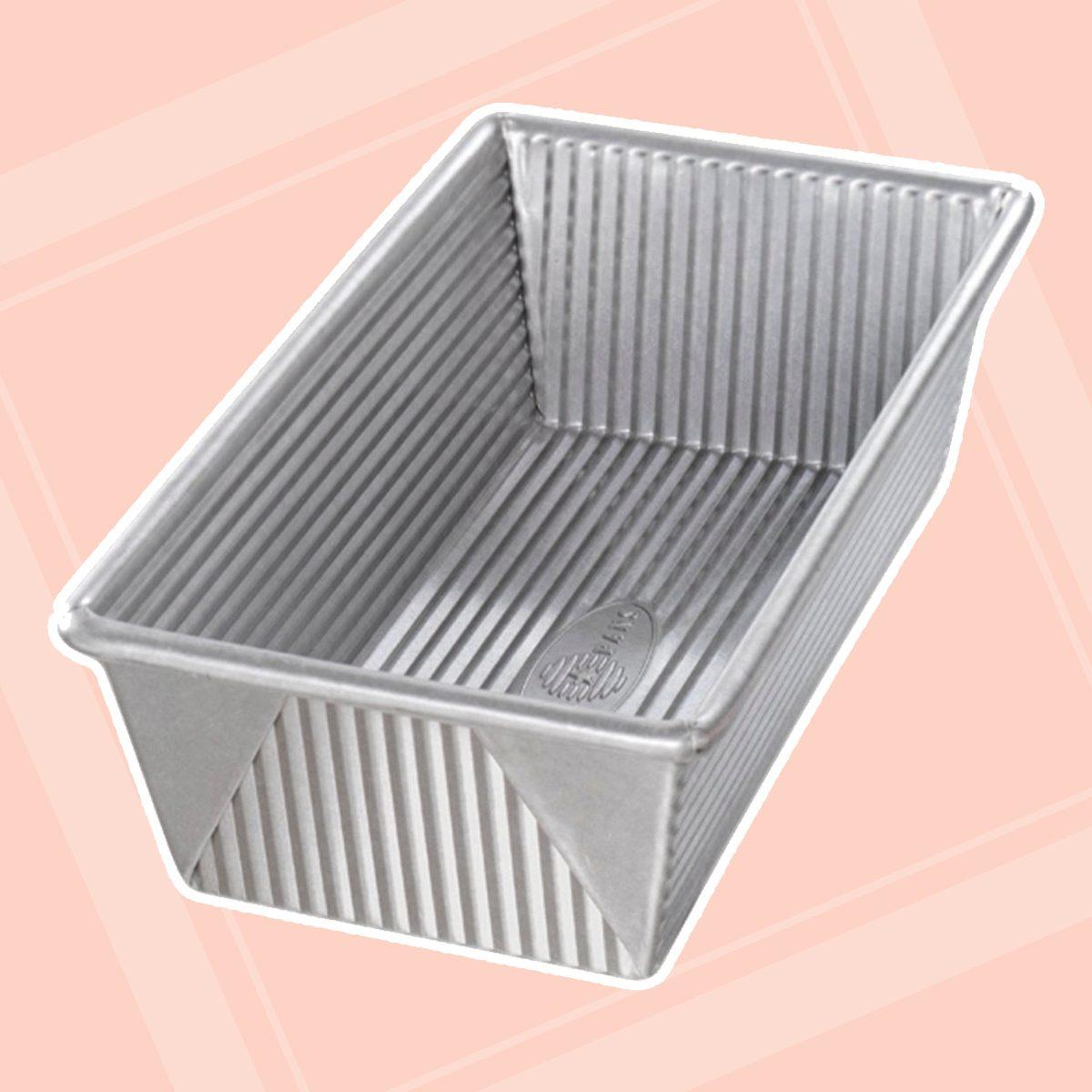 USA Pan 1145LF Bakeware Aluminized Steel 1 1/4 Pound Loaf Pan, Medium, Silver