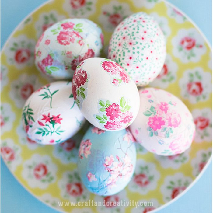 Flower power Easter eggs