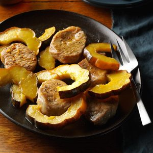 Pressure Cooker Pork Chops and  Acorn Squash