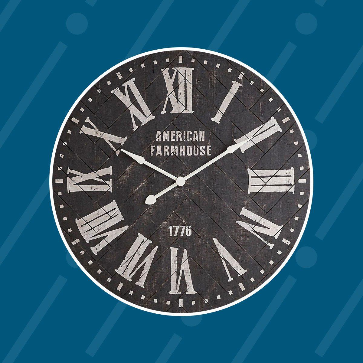 Black Shiplap Wall Clock