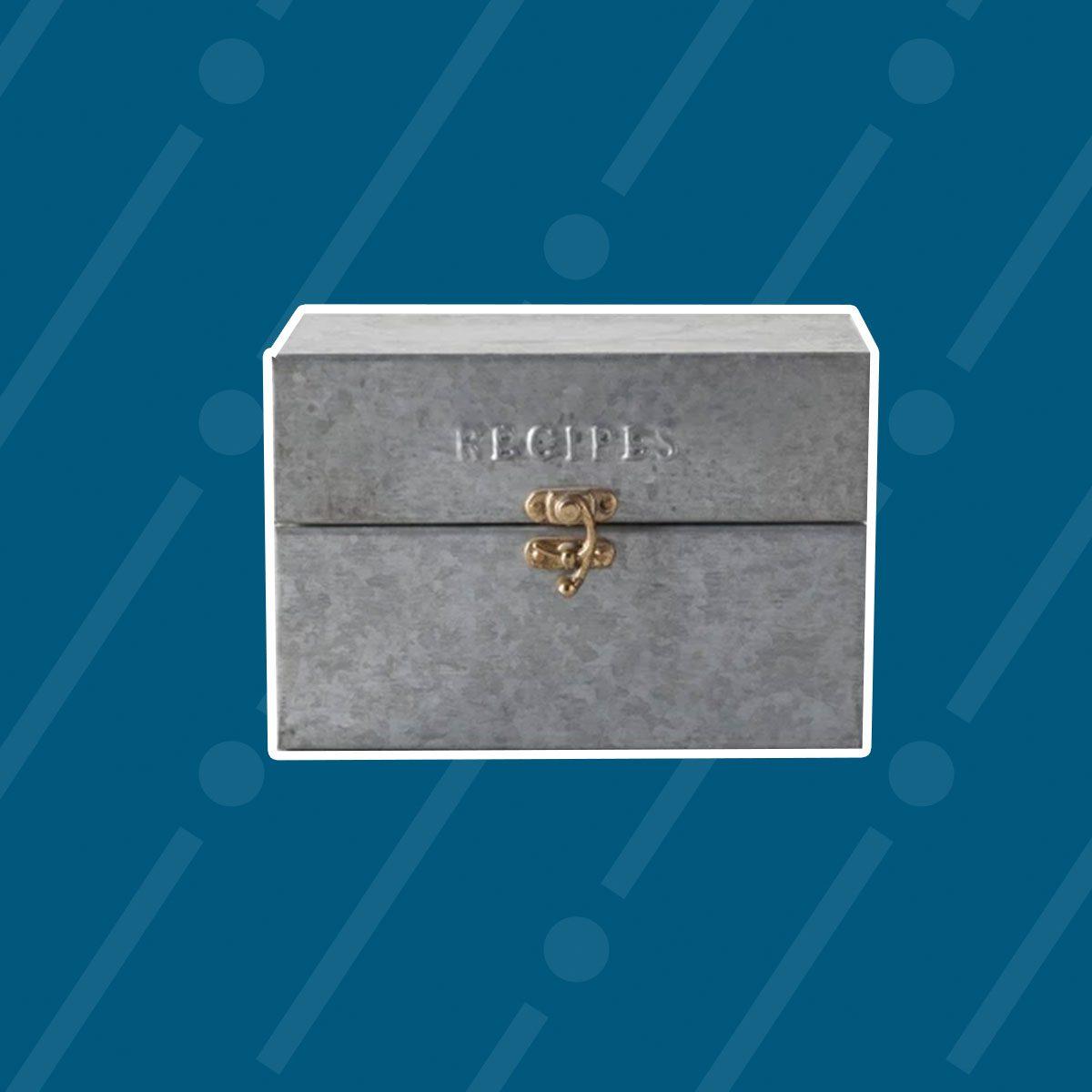Metal Recipe Box